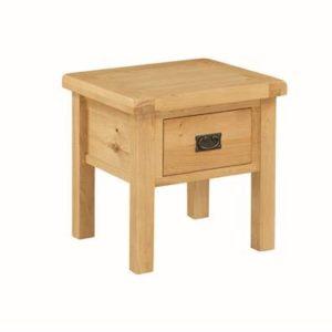 Newbridge Oak end table with drawer-0