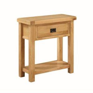 Newbridge Oak small console table-0
