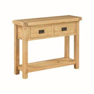 Newbridge Oak large console table-0