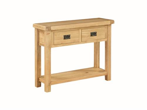 Newbridge Oak large console table-0