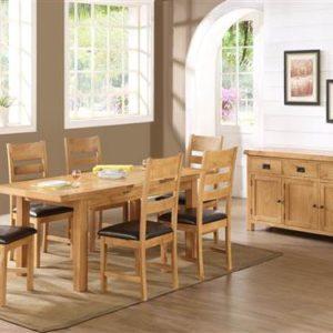 Newbridge Oak large dining set-0