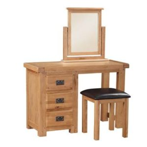 Newbridge Oak dressing table and stool-0
