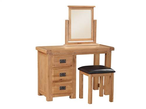 Newbridge Oak dressing table and stool-0