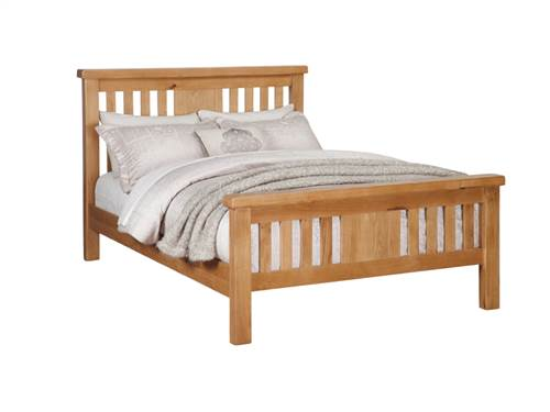 Newbridge Oak 4'6 bedframe-0