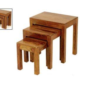 Sheesham nest of tables-0
