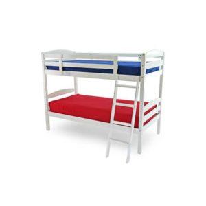 Modeste white bunk bed-0