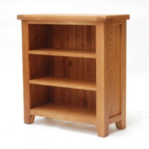 Hampshire oak low bookcase-0