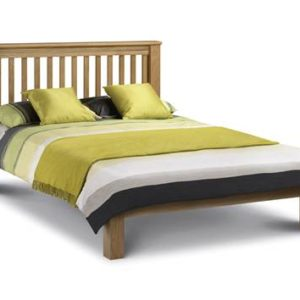 Amstrad oak low foot end bedframe-0