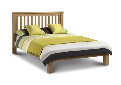 Amstrad oak low foot end bedframe-0