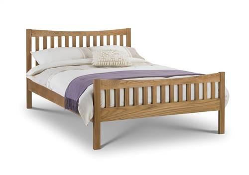 Berg 4'6 oak bedframe-0