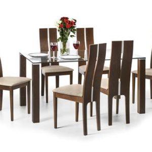 Cayman glass dining set-0