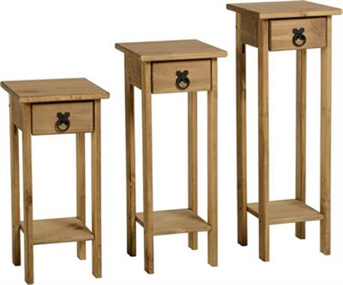 Corona set of 3 plant stands-0