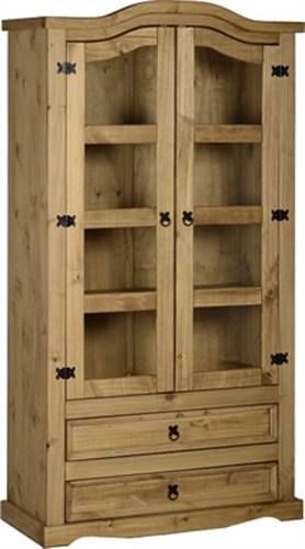Corona 2 door 2 drawer glass display unit-0