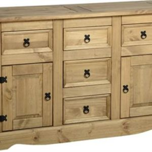 Corona 2 door 5 drawer sideboard-0