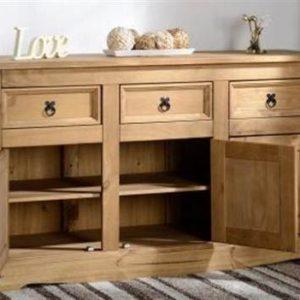 Corona 3 door 3 drawer sideboard-0