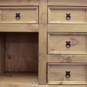 Corona 1 door 4 drawer sideboard-0