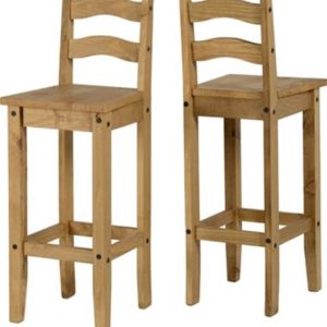 Corona pine bar chairs-0