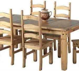 Corona pine 6' dining set-0