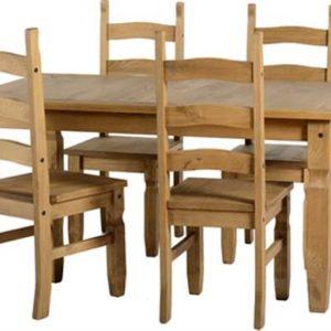 Corona Pine 5' dining set-0