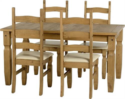 Corona 5' dining set with padded seats-0
