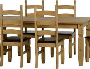 Corona extending dining set with 8 padded seat chairs-0
