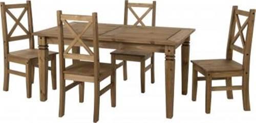 Salvador pine dining set-0