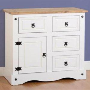 Corona white/pine small sideboard-0