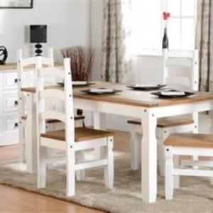 Corona 5' white dining set-0