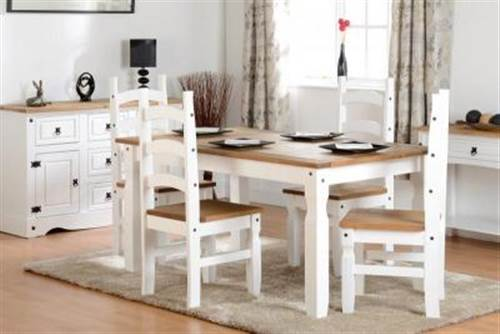 Corona 5' white dining set-0
