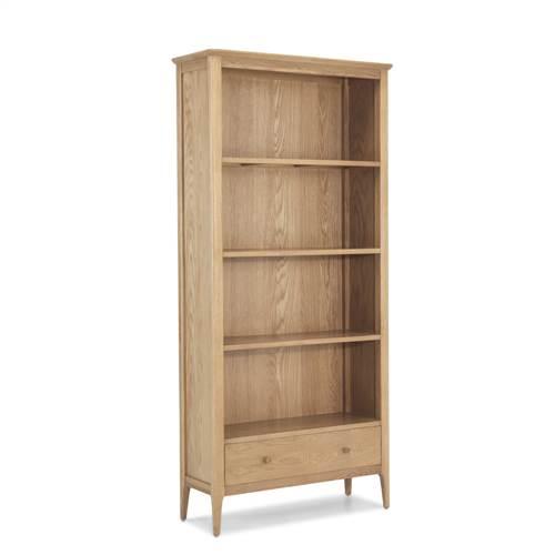 Retro oak large bookcase-0