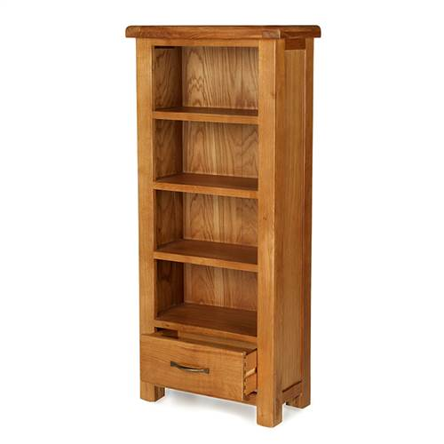 Earlswood oak CD/DVD cabinet with drawer-0