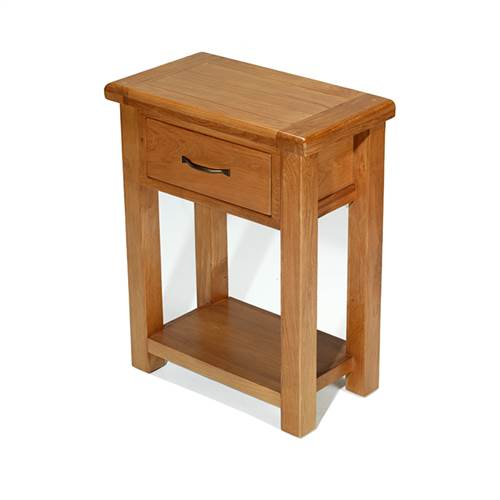 Earlswood oak petite hall table-0