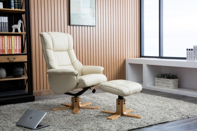 Florence leather recliner with FREE stool-3739