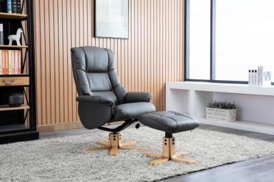 Florence leather recliner with FREE stool-3737