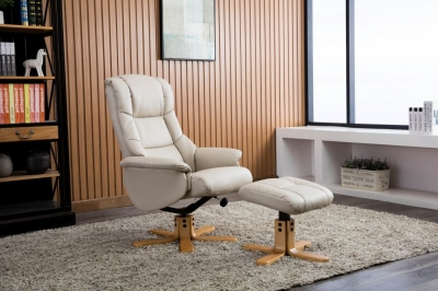 Florence leather recliner with FREE stool-3736