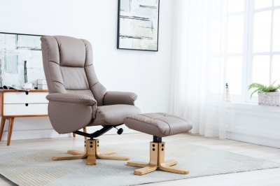 Florence leather recliner with FREE stool-3735