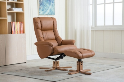 Florence leather recliner with FREE stool-0