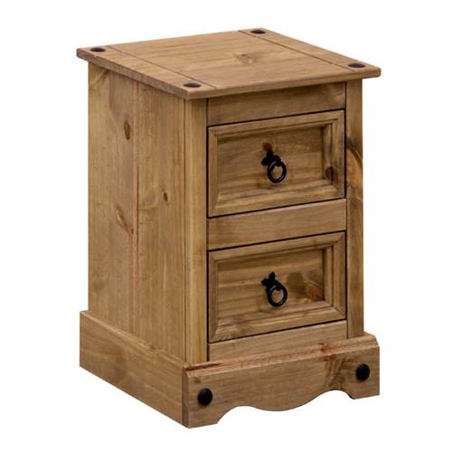 Corona Deluxe 2 drawer petite bedside-0