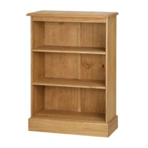 Cotswold pine low bookcase-0