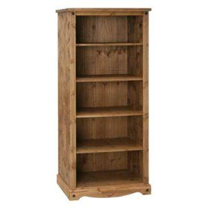 Corona Deluxe Pine tall bookcase-0