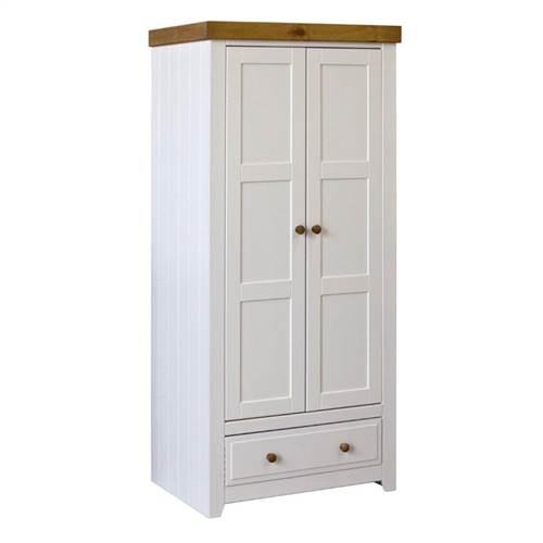 Capri 2 door 1 drawer robe-0