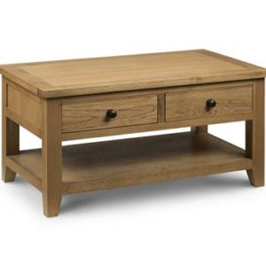 Astro oak coffee table with drawers-0