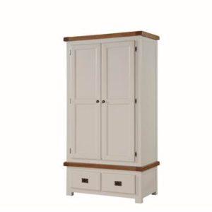 Heritage Oak painted 2 door 2 drawer robe-0