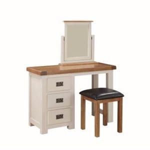 Heritage Oak painted 3pc dressing table set-0