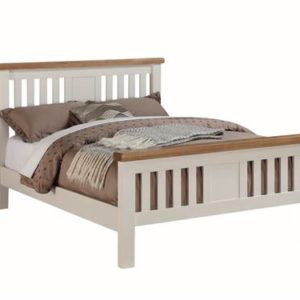 Heritage painted oak 4'6 bedframe-0