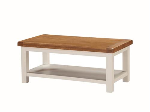 Heritage painted oak small coffee table-0