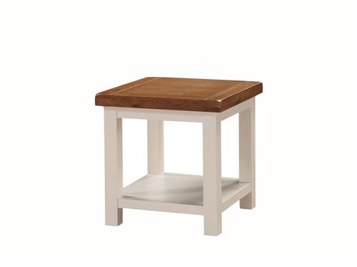 Heritage painted oak end table-0