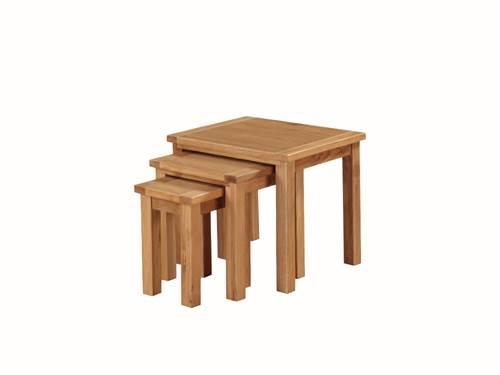 Hartford Light Oak nest of 3 tables-0