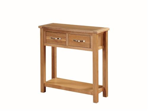 Hartford Light Oak large hall table-0