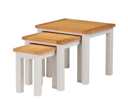 Hartford Painted Oak nest of 3 tables-0